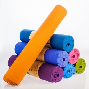 Harmless Thermoplastic Elastomer Yoga Mat , Comfortable Non Toxic Fitness Mat Manufactures