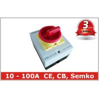 Surface Mounted 32A Rotary Isolator Switch 4 Pole / Electrical Isolation Switch Manufactures