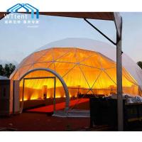 China Romantic Large Geodesic Dome Tent Glass Window Double PVC Fabric on sale