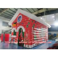 China Christmas Decoration Inflatable Xmas house / Santa Claus Christmas Lighted Houses on sale