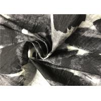China Style Black And White Graphic Print Fabric With Perfect High Permeability Manufactures