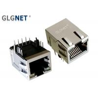 China Bi Colored LED Ethernet RJ45 Modular Jack Connector Non POE With EMI Spring on sale