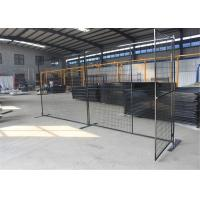 Quality 6'x9.6' Construction Security Temp Fence Panels Tubing 30mm*30mm brace 20mm*20mm for sale