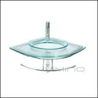 Corner Glass Bathroom Vanity China Factory Cheap Price Glass Wash Basink Sink Vessel for sale