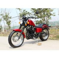 Red 250cc Chopper Motorcycle 90 km / H Low Oil Consumption With 5 Manual Transmission Manufactures