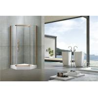 8MM Pivot Red Bronze Shower Cubicles 304 Stainless Steel Profiles For Apartment Manufactures