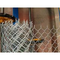 Electro Galvanized Chain Link Diamond Wire Mesh Yard Fence , Gi Chain Link Fence Manufactures