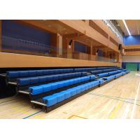 Power Control Retractable Grandstands Retractable Seating System Recessed Polymer Bench Manufactures