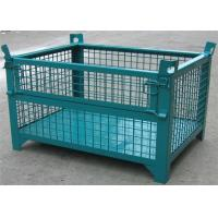 Wheeled Lockable Pallet Cages Square Stack Legs Folds Flat For Space Saving