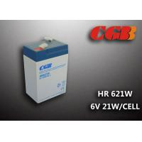HR621W 5AH 6V SLA Battery , High Rarte Sealed lead acid deep cycle battery Manufactures