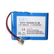 Lithium-ion Battery Pack, 103450AR2 2S1P, 7.4V, 1,800mAh, 13.32Wh, RoHS Mark Manufactures