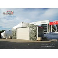 10m Witdh Aluminum Steel Airplane Hangars Camouflage Color PVC Fabric Steel Roll Up Door Manufactures