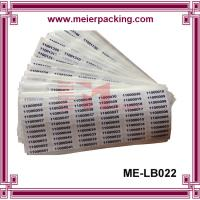 China Removeable Label Sticker/Custom Vinyl Numbered Sticker/Destructible Sequential Numbers Label  ME-LB022 on sale
