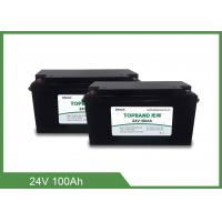 Deep Cycle Bluetooth Rechargeable Battery , Lithium Phosphate Battery 24V 100Ah Manufactures