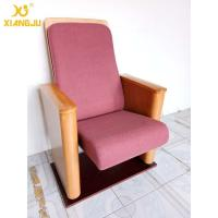 Customized Metal Floor Mounted Polywood Stand Theater Chairs For Church Halls Manufactures