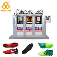 3 Stations 6 injectors TPU Football Sole Making Machine 70-100 Pairs Per Hour Manufactures