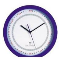 round analog radio controlled wall clock Manufactures