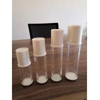China 15ml 30ml 50ml 80ml round transparent cosmetic lotion  airless bottle on sale