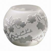 White Glass Candle Holder, Suitable for Christmas Decoration Manufactures