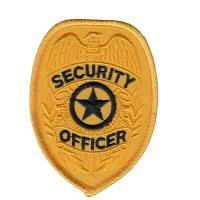 Officer Shoulder Embroidered Custom Iron On Patches Security Guard Patches Manufactures