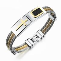 Stainless Steel Three Layers Cable Wire Bracelets For Men Manufactures
