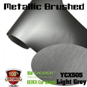 Matte Metallic Brushed Vinyl Wrapping Film - Matte Metallic Brushed Light Grey Manufactures