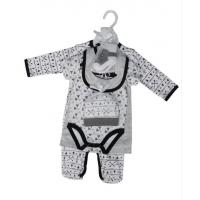 Summer Six Piece Baby Clothes Gift Set 180G 60% Cotton 40% Polyester Interlock for sale