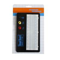 Black Aluminum Backing Plate Solderless Breadboard Kit 830 Tie Points Manufactures
