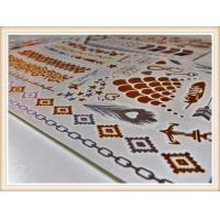 Nontoxic Custom Gold And Silver Temporary Tattoos Certification Manufactures