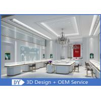 High - end Matte White S / S Store Jewelry Display Cases With Led Lights Manufactures