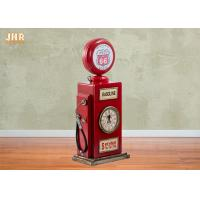 China Red Multimedia Storage Rack Decorative Wooden Cabinet Wood Tabletop Clock Red Color on sale