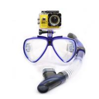 Scuba Diving Snorkeling Mask Set with Adult Swim Goggles and Camera Mount