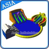 Inflatable Giant Water Park Pool with Slide , Removable Theme Inflatable Water Park Manufactures