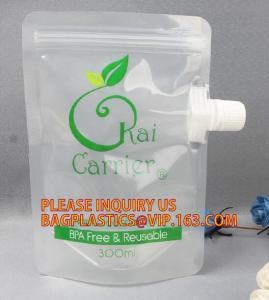Plastic Cosmetic Spout Pouch For Facial Mask Reusable Hair Dye Chemical Packaging Spout Bag,Multi-purpose Liquid Chemica