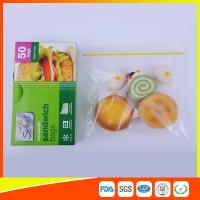 Waterproof Plastic Sandwich Bags Reclosable 18 X 17cm For Food Storage Manufactures