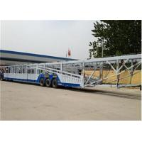 Customized Car Towing Trailer / car haulers trailers For 8-12 Cars Transporter Manufactures