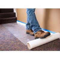 China Plastic Carpet Protector Film , Temporary Adhesive Plastic Film With High Tack Adhesion on sale
