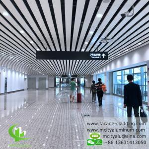Pre Paint  Aluminum Ceiling Tiles , Exterior Aluminum Ceiling Panels 6000mm Max Length Manufactures