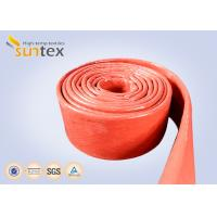 Quality 550C Heat Resistant Silicone Fiberglass Sleeve Insulation Cable Pipe Protection for sale