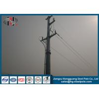 Steel Hot Dip Galvanized Electrical Power Poles Post For Transmission Line Project Manufactures