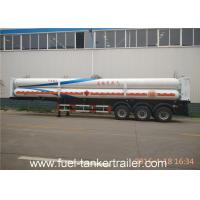 8 Tubes 3 - Axle CNG Tank Trailer with Mechanical / Air Suspension Manufactures