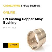 China CuSn5Zn5Pb5 EN Casting Copper Alloy Bearing Custom & Special Groove Patterns on sale