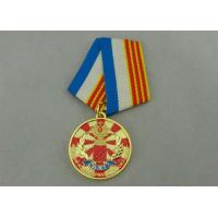 Die Casting Zinc Alloy Custom Medal Awards With Soft Enamel Gold Plating Manufactures