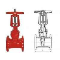 Ductile cast iron RRHX rising stem resilient seated gate valve for fire protection API 598 Manufactures