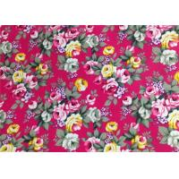 China Floral Patterned Canvas Fabric Polyester / Floral Print Fabrics on sale