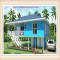 Light Steel Framing Wooden Home Beach Bungalow Manufactures