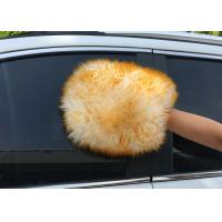 Quality Both Side  Lambswool Sheepskin Car Wash Mitt For Auto Cleaning / Polishing for sale