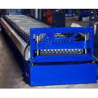Colored Steel Corrugated Roof Roll Forming Machine High Tensile Thin Barrel Manufactures