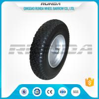 Durable Heavy Duty Rubber Wheels 4.00-8 , Industrial Trolley Wheels Diamond Patter Manufactures