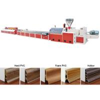 Floor Baseboard PVC Profile Extrusion Line Skirting Board Manufacturing Manufactures